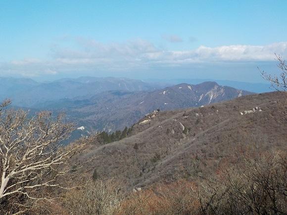 御在所岳山頂からの眺め
