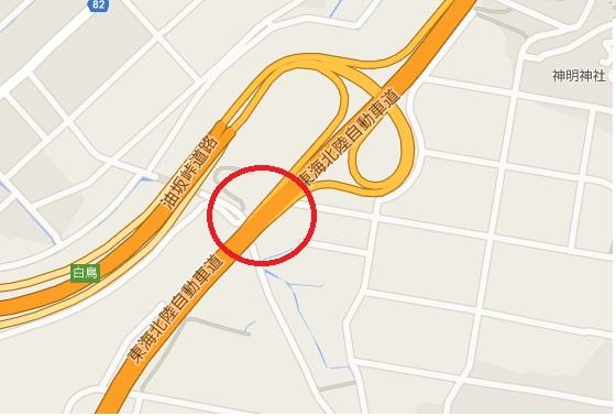 事故現場地図_東海北陸道 白鳥IC付近