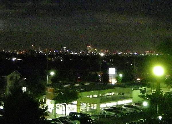 滝の水公園 夜景 名駅・栄方面