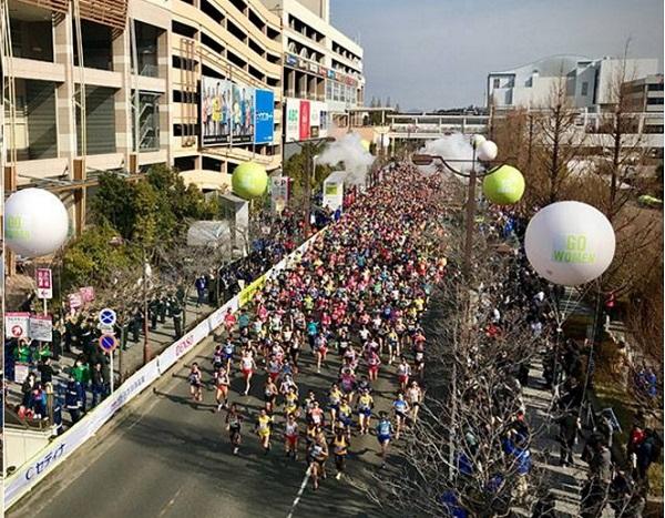 名古屋ウィメンズマラソン2017スタートの風景